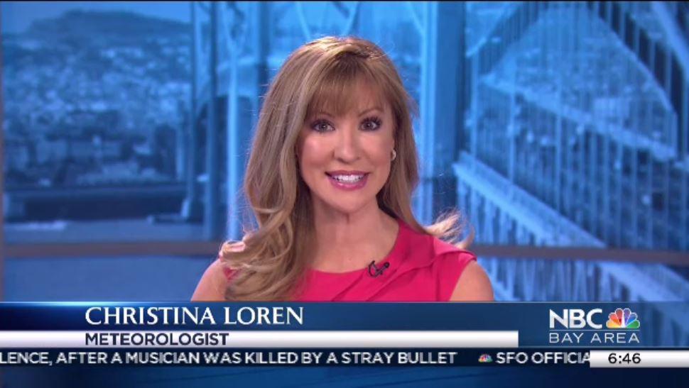 Gorgeous NBC meteorologist Christina Loren